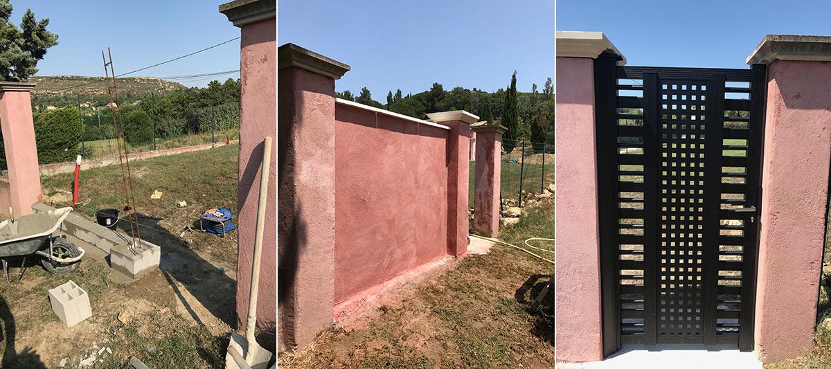 mur d'enceinte de jardin